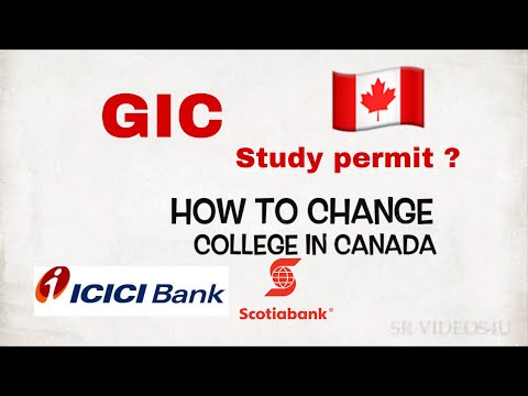 How To Change College In Canada || GIC In Icici Or Scotia || Punjabi Vlog ||