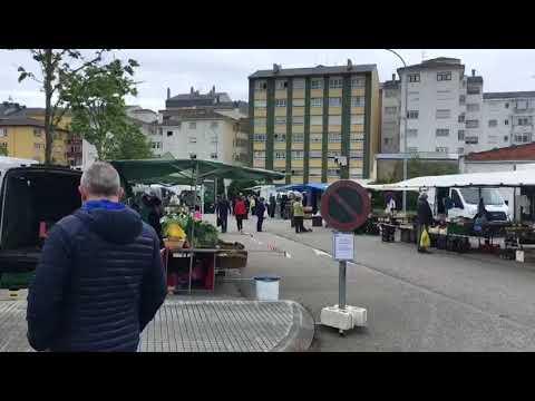 Volve o mercado semanal de Ribadeo, con nova ubicación