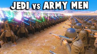 10,000 JEDI KNIGHTS vs ARMY MEN & Mech Warriors! -Ultimate Epic Battle Simulator New Update Gameplay