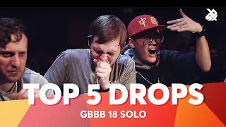 TOP 5 DROPS /Grand Beatbox Battle Solo 2018