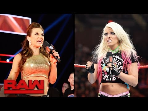"Thumbnail: Mickie James and Alexa Bliss bring some ""drama"" to Team Red: Raw, April 10, 2017"