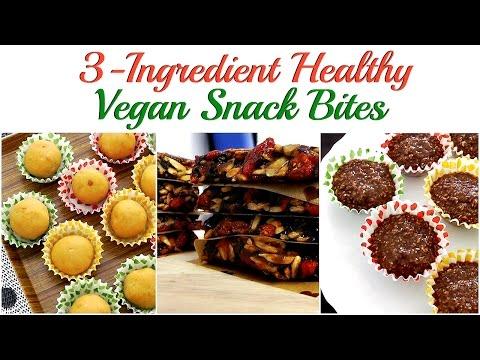 Must Try 3-Ingredient VEGAN Snack Bites! (No Baking, No Cooking!)