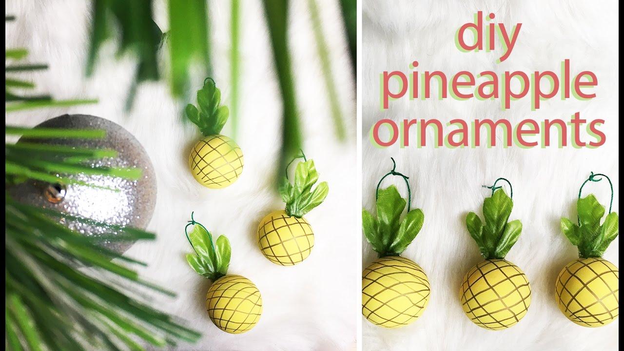 diy pineapple ornaments jfer loves christmas 2016 jferlovesfashion