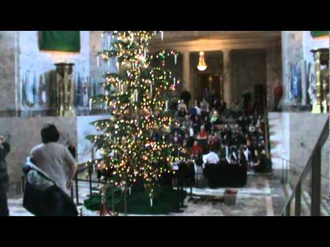 Olympia Christian School Holiday Concert in the State Capitol Rotunda 1 of 2 M2U01816.MPG