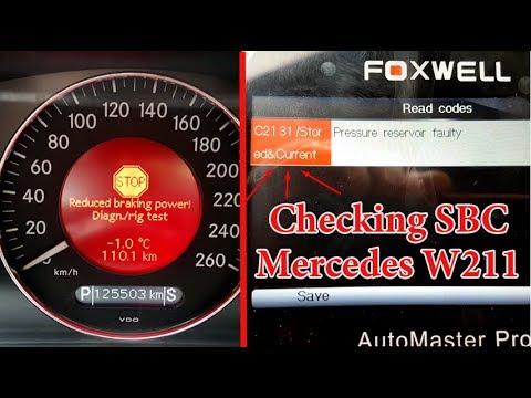 Problem Sbc On Mercedes W211 W219 Error C2131 Diagnose