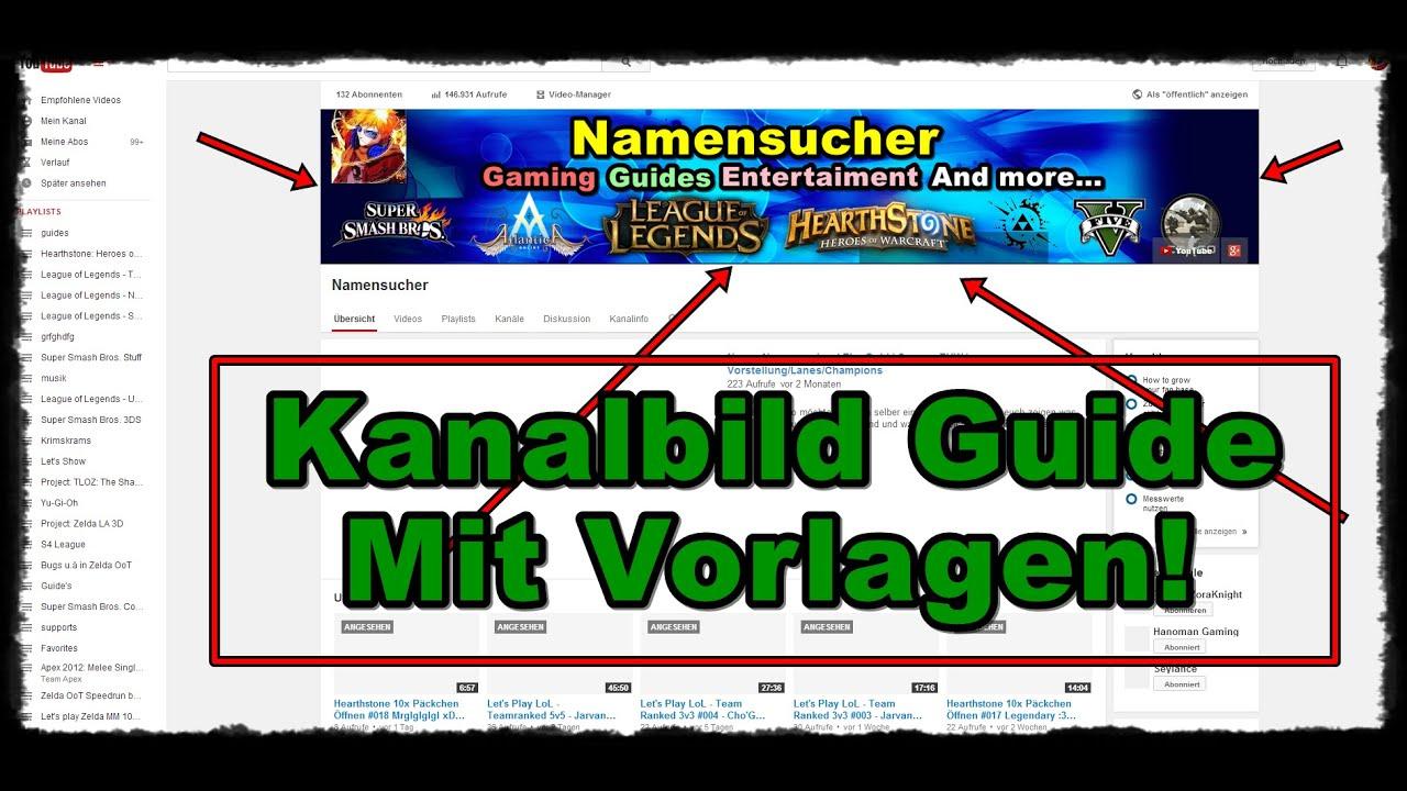 Youtube Kanalbanner Vorlage Gute Youtube 9