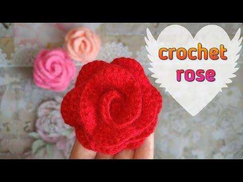 Роза крючком 🌹 How To Crochet A Rose Motif