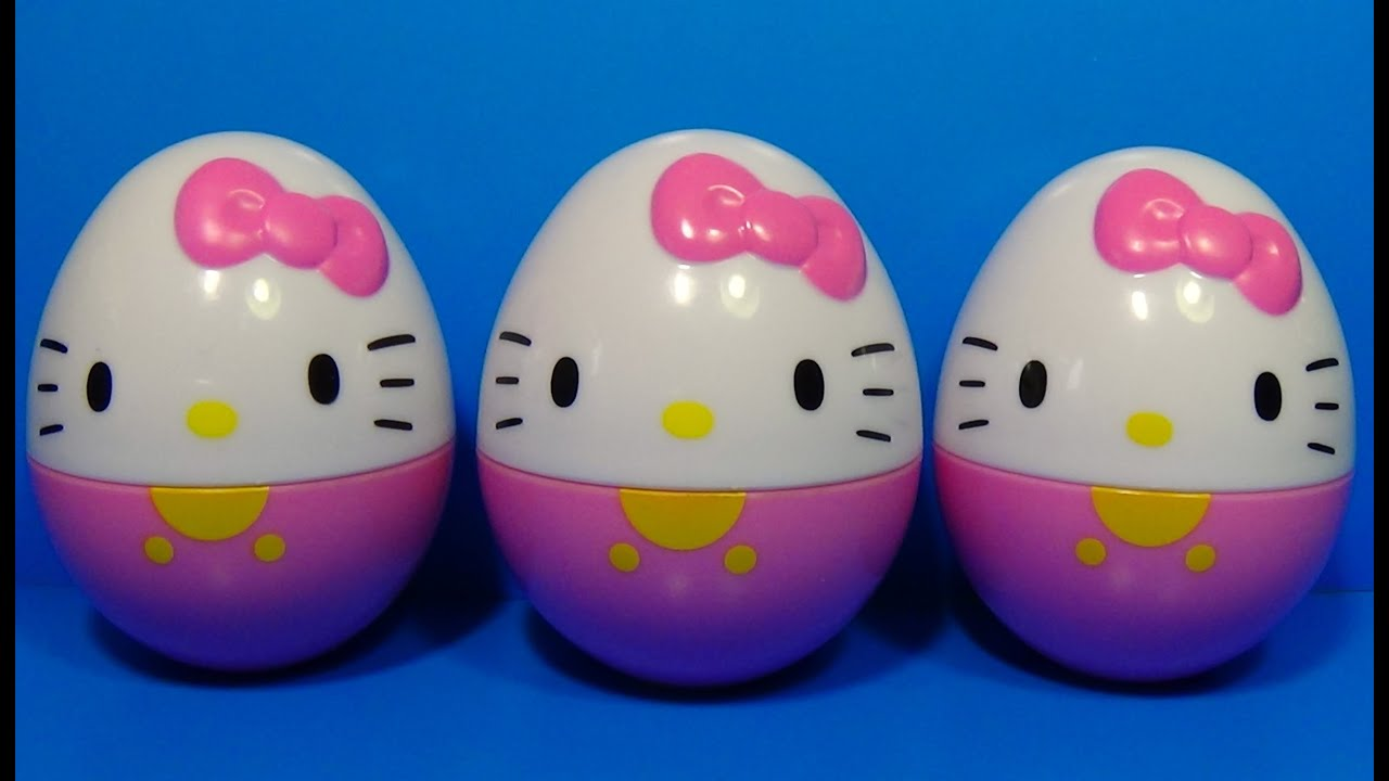 3 surprise eggs hello kitty for baby mymilliontv youtube. Black Bedroom Furniture Sets. Home Design Ideas
