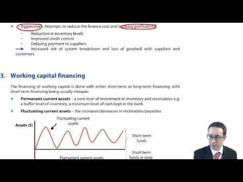 CIMA F1 Introduction to Working Capital