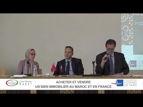 Colloque France-Maroc 2017 | Acheter et vendre un bien immobilier au Maroc