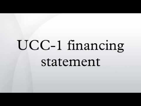 UCC-1 financing statement - YouTube