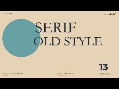 013- Font chữ old-style serif áp dụng trong thiết kế chữ-kiến thức nền tảng về thiết kế typography