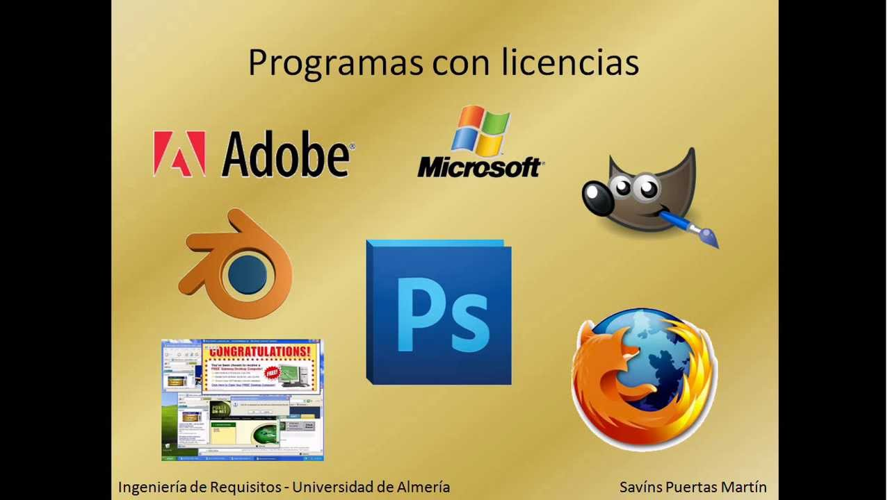 Tipos de licencias software youtube for Tipos de licencias para bares