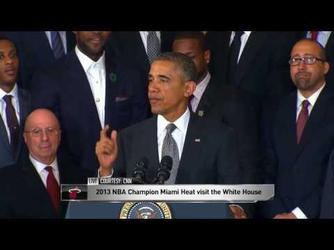 Barack Obama has Mario Chalmers' Back
