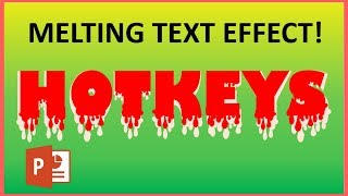 Melting text typography effect in PowerPoint!