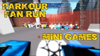 ROBLOX Parkour: Running and talking with fans [mini games & more]