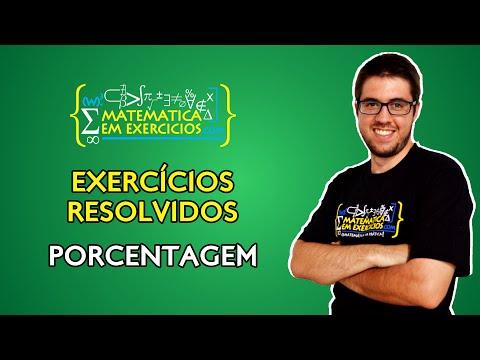 Exercícios Resolvidos - Porcentagem - Prof. Gui
