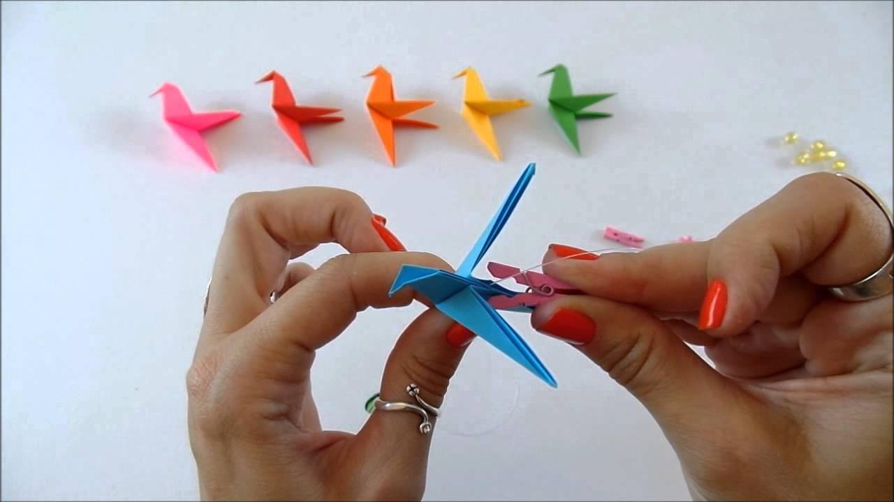 Como fazer um móbile de origami - 51.7KB