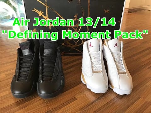 f6dd620b82c5f4 First Review  Air Jordan 13 14 Defining Moments Pack Unboxing Review ...