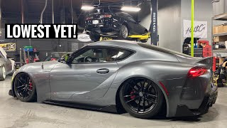 Bagging the Toyota Supra! BUT EVEN LOWER!!