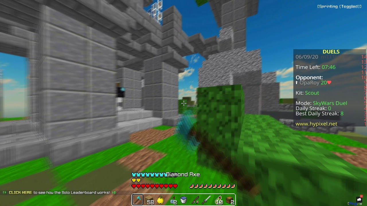 Hypixel Skywars But with +200 MS  :/ ....