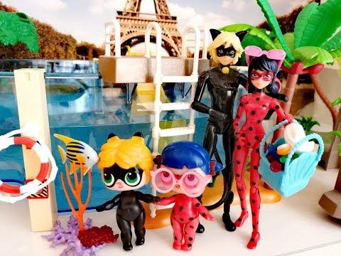 Семья Леди Баг и Супер-Кота собирается в аквапарк!