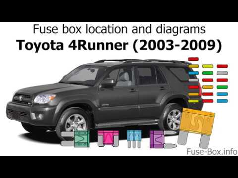 Fuse box location and diagrams Toyota 4Runner (2003-2009) - YouTube