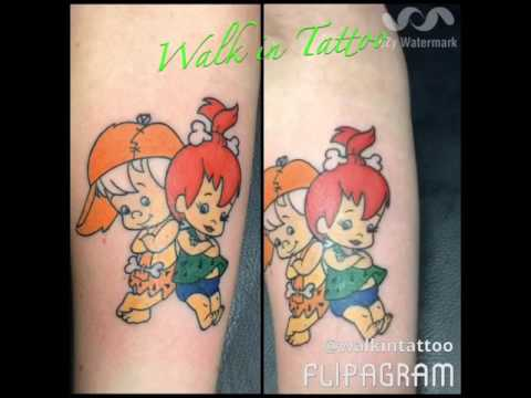 Pebbles and bam bam tattoos
