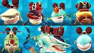 ALL XXL MEGA SHARK vs Helicopter - Hungry Shark World