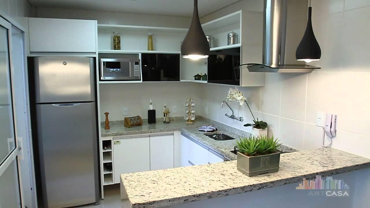 Cozinha Integrada  Sena Construções  YouTube # Sala E Cozinha Pequena Juntas