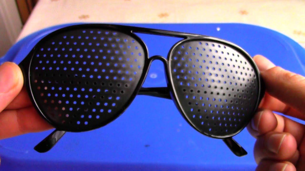 Перфорационные очки с дырочками для тренировки зрения, цена 79 грн.