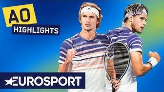 Dominic Thiem vs Alexander Zverev Extended Highlights | Australian Open 2020 Semi Finals | Eurosport