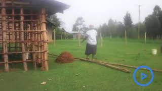 Vihiga county locals build a mud walled office for their assistant chief