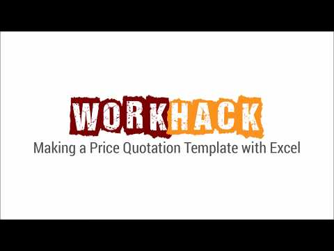Making a Price Quotation Template with Excel