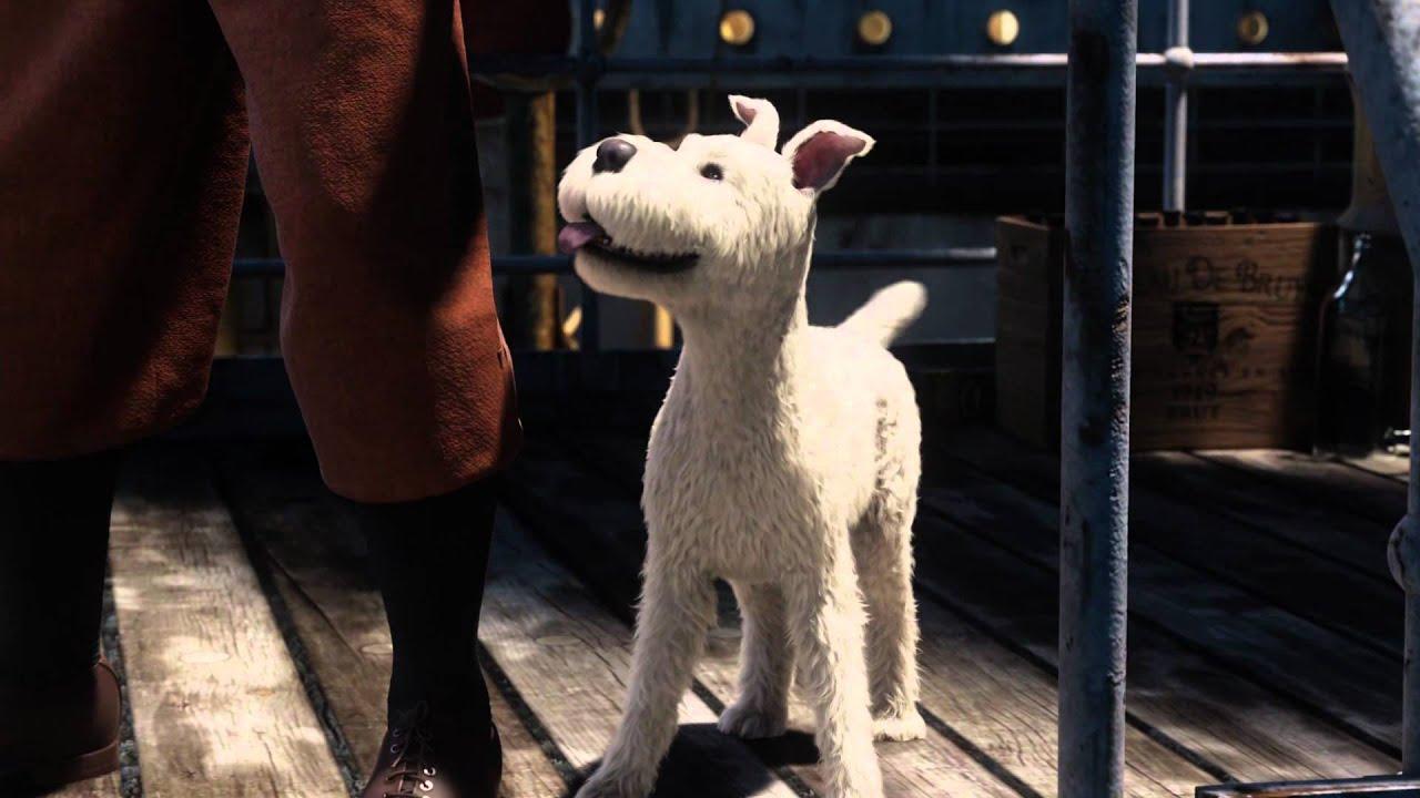 Karakter anjing Snowy di film Tintin.
