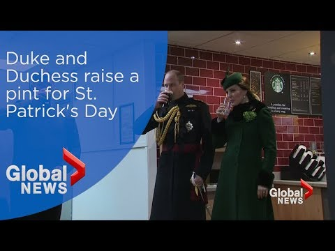 The Duke and Duchess raise a pint for St. Patrick's Day