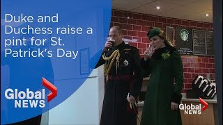 The Duke and Duchess raise a pint for St. Patrick