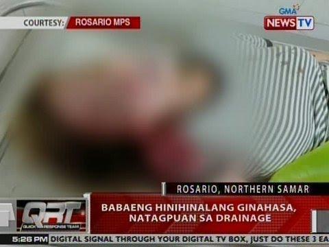 QRT: Babaeng hinihinalang ginahasa, natagpuan sa drainage sa Rosario, Northern Samar