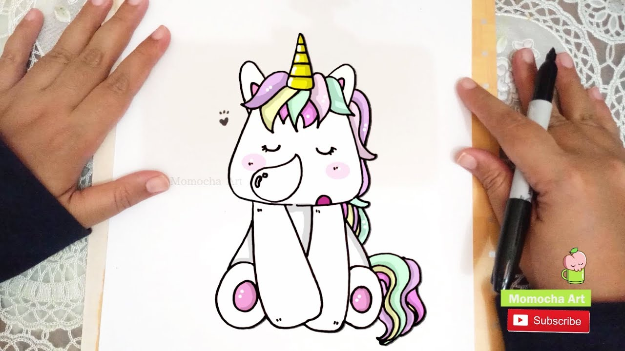 How To Draw Kawaii And Cute Unicorn Easy Youtube
