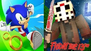 Sonic Dash vs Friday the 13th Minecraft