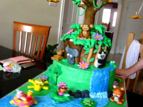 Dora the Explorer Cake in action YouTube