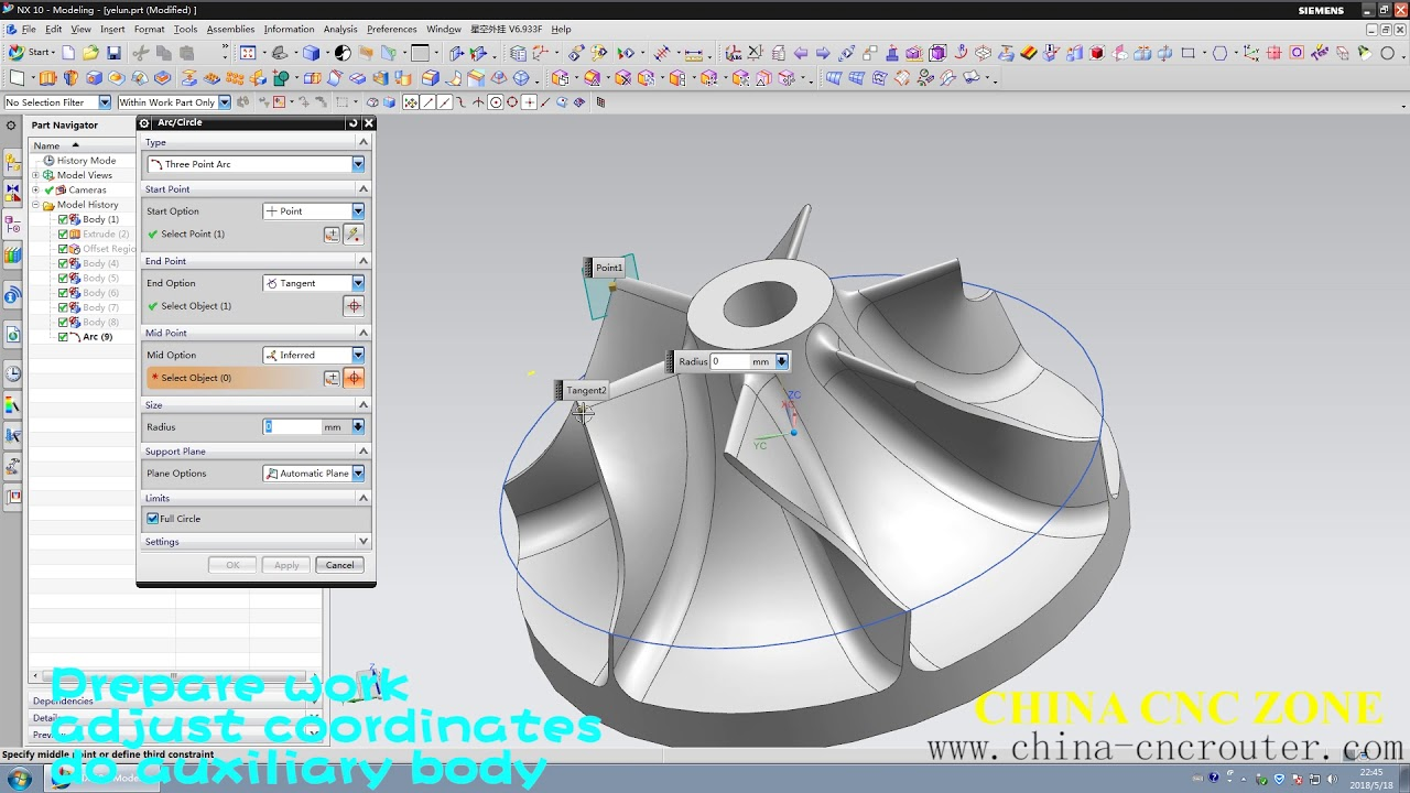 5-Axis CNC Programming G-code Design for Impeller ChinaCNCzone