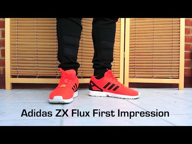 "First Impression  Adidas ZX Flux ""Infrared""  fa9079214"
