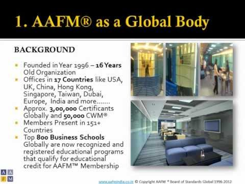 Finance Course Wealth Management as a Career Option AAFM India - APIM.wmv