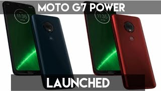 MOTO G7 POWER SMARTPHONE LAUNCHED IN INDIA FULLY DETAIL IN MOBILE PHONE