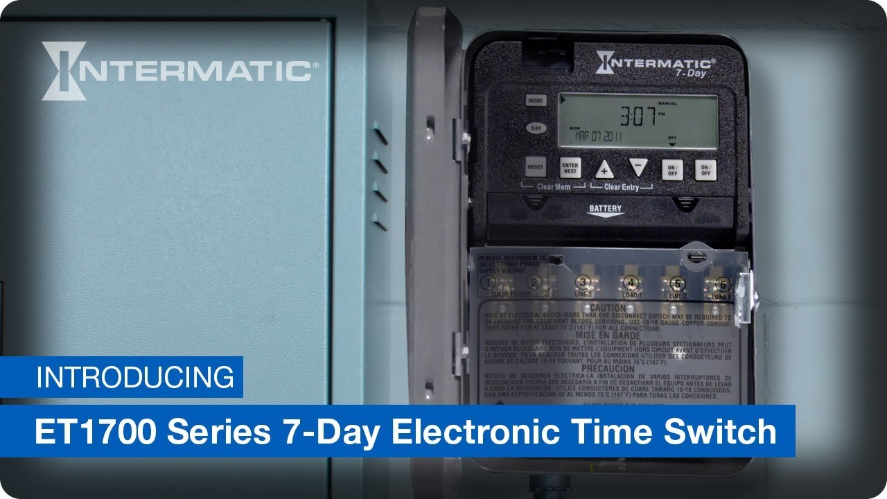 ET1700 Series 7-Day Electronic Timer on