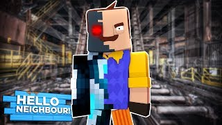 Minecraft - HELLO NEIGHBOUR CREATES A ROBOT ARMY!