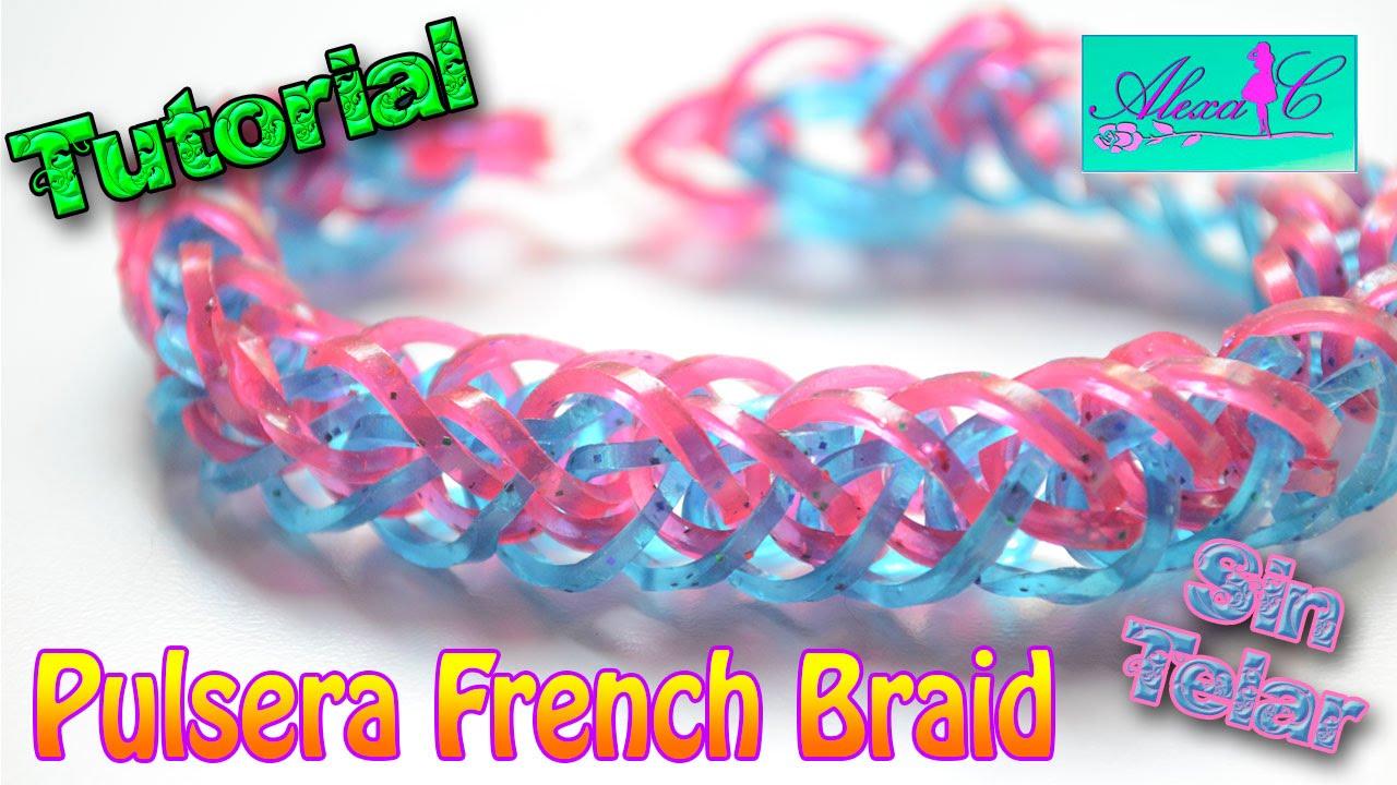 6d7eb3a90473 ♥ Tutorial: Pulsera French Braid de gomitas (sin telar) ♥