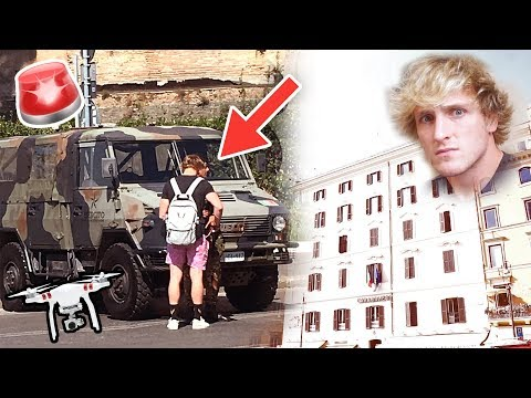 LOGAN GOT ARRESTED BY THE ITALIAN MILITARY