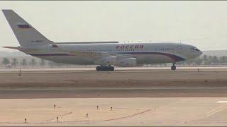 لحظة وصول طائرة الرئيس الروسي إلى الرياض